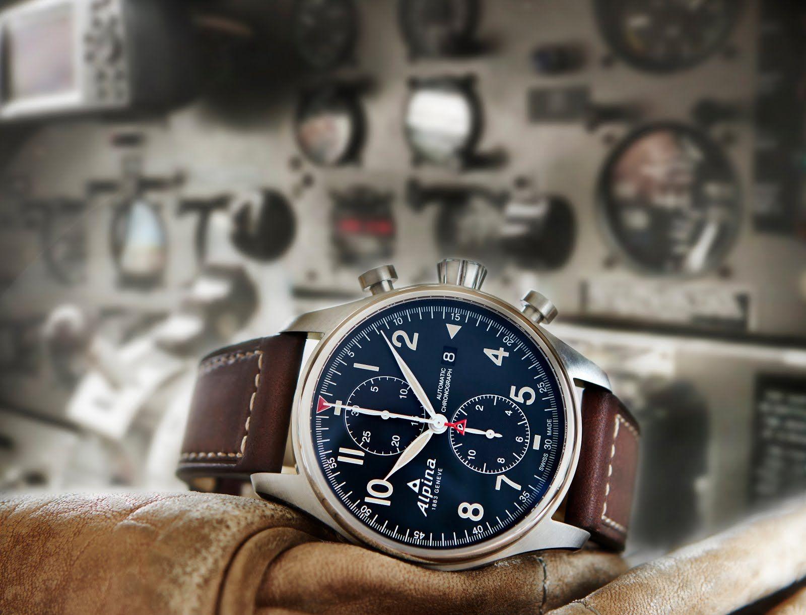 Alpina Startimer Pilot Automatic Chronograph blog debajo del reloj