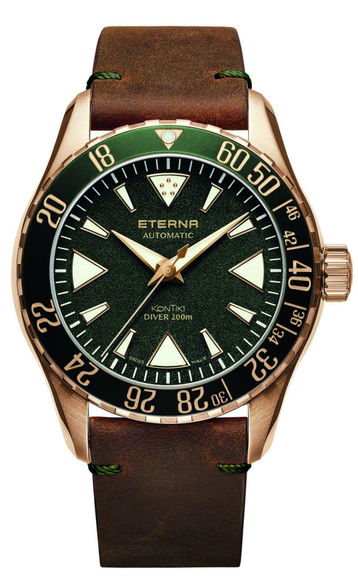 Eterna Kontiki Bronze Green Dial