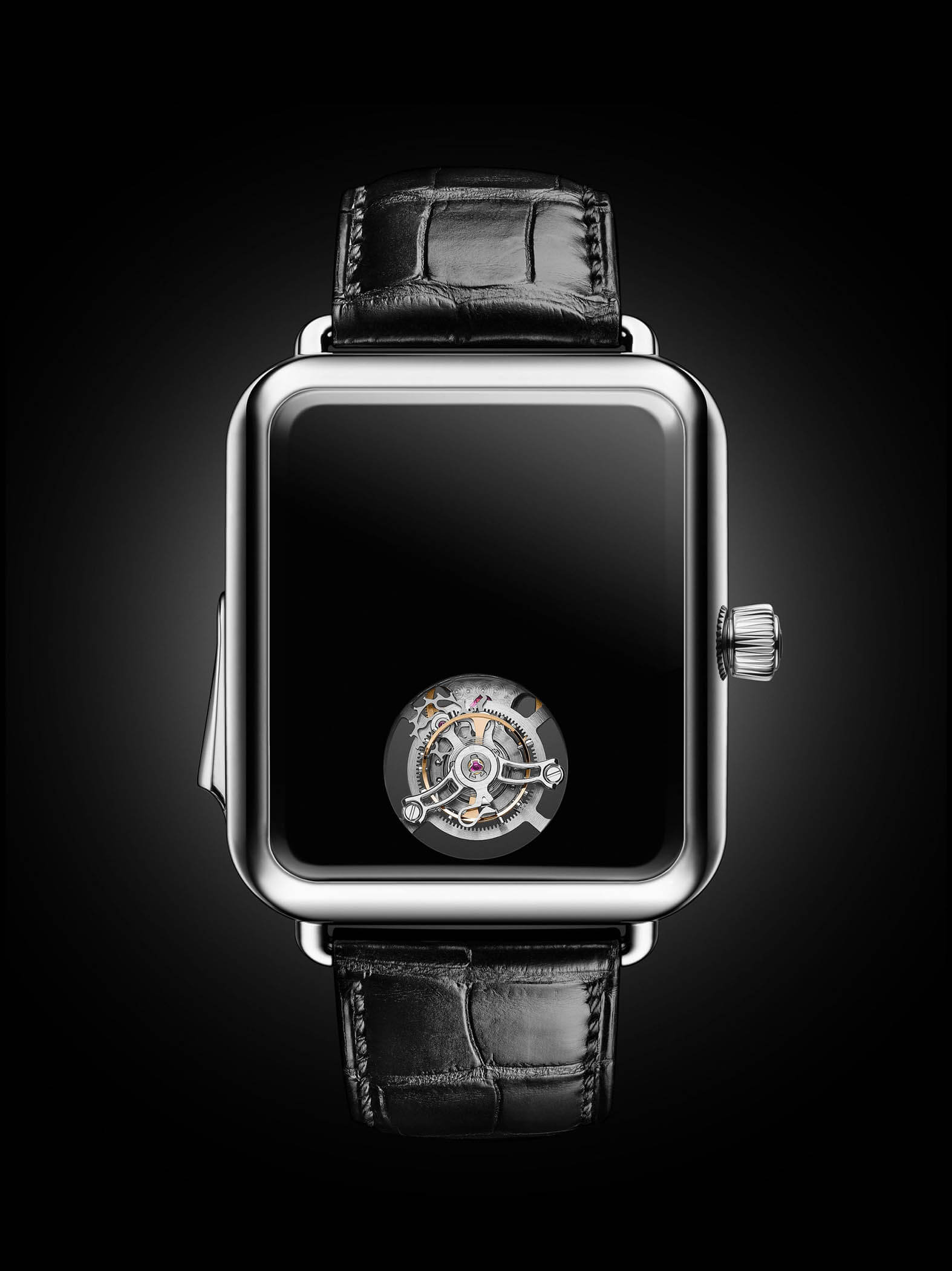 Swiss Alp Watch Concept Black Glow