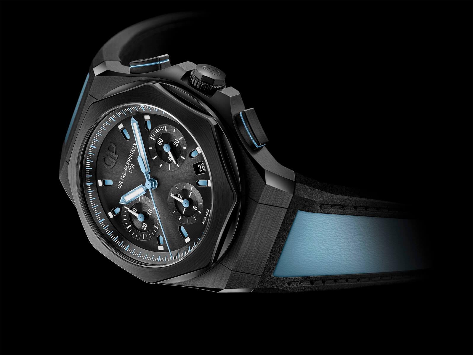 Girard-Perregaux Laureato Absolute Chronograph Only watch portada debajo del reloj