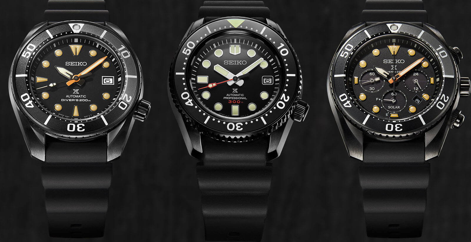 Seiko Prospex Black Series Diver Limited Editions