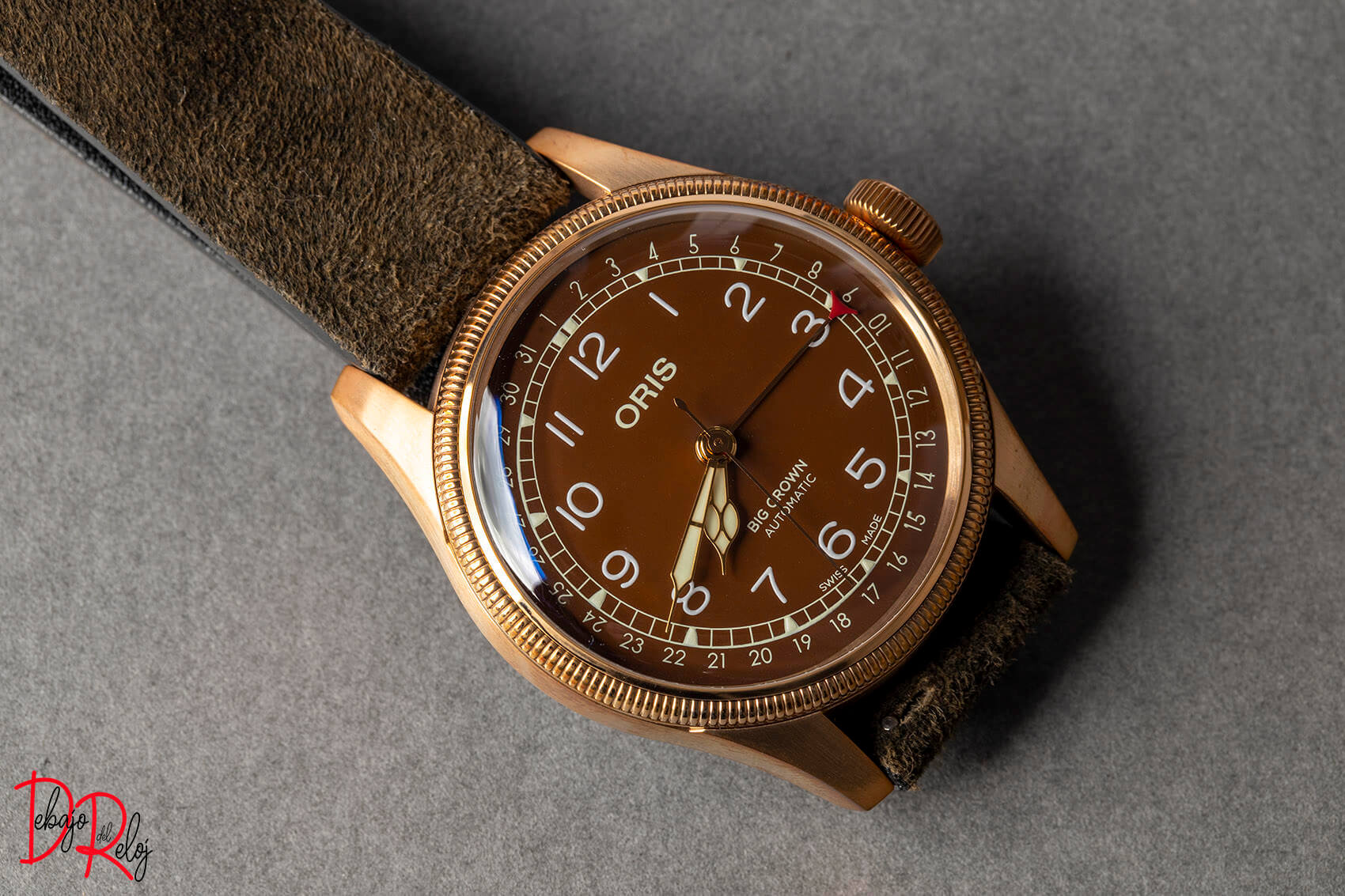 Oris Big Crown Bronze Pointer Date lado portada