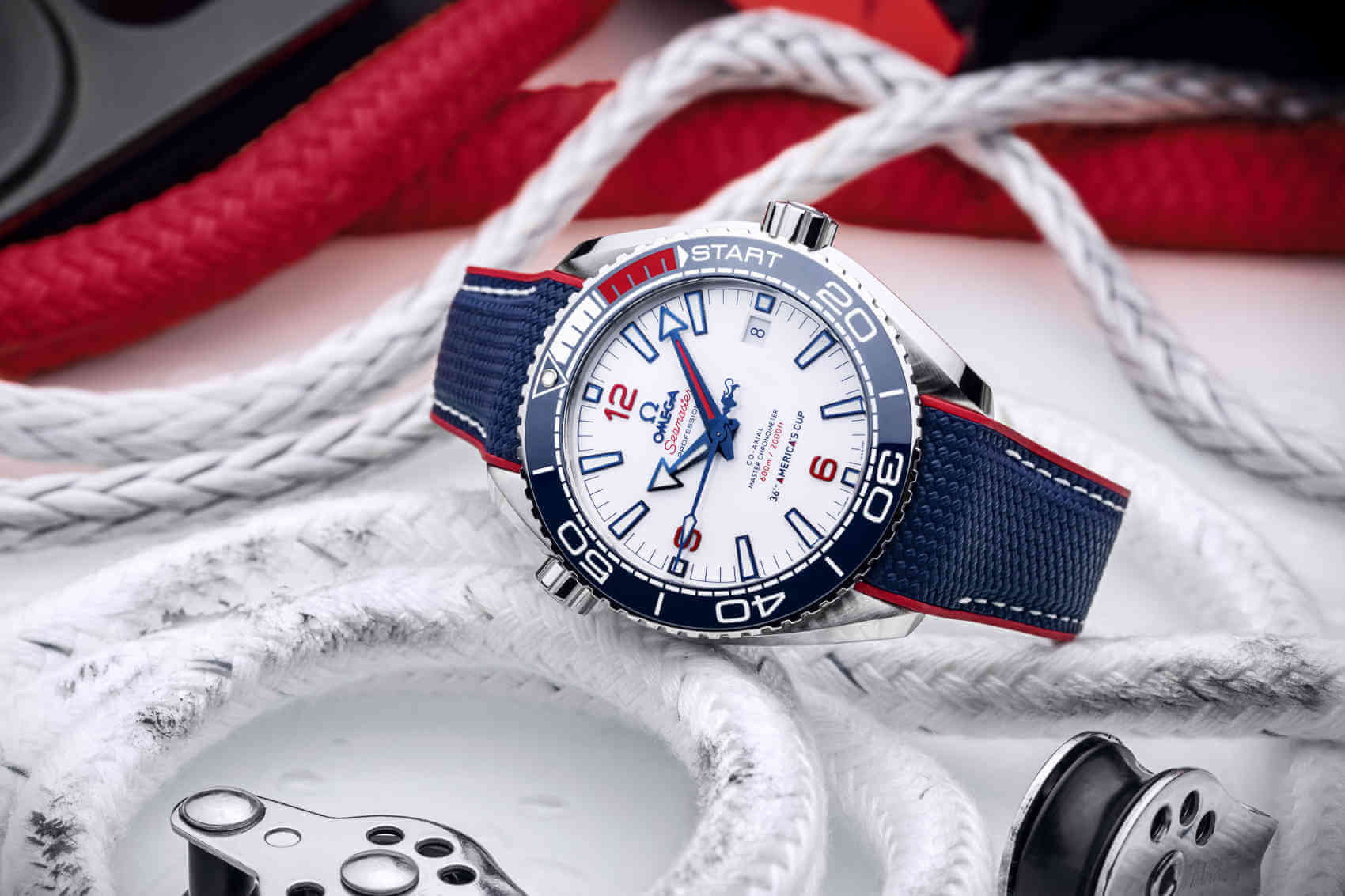 Omega Seamaster Planet Ocean 36th America's Cup lado inc