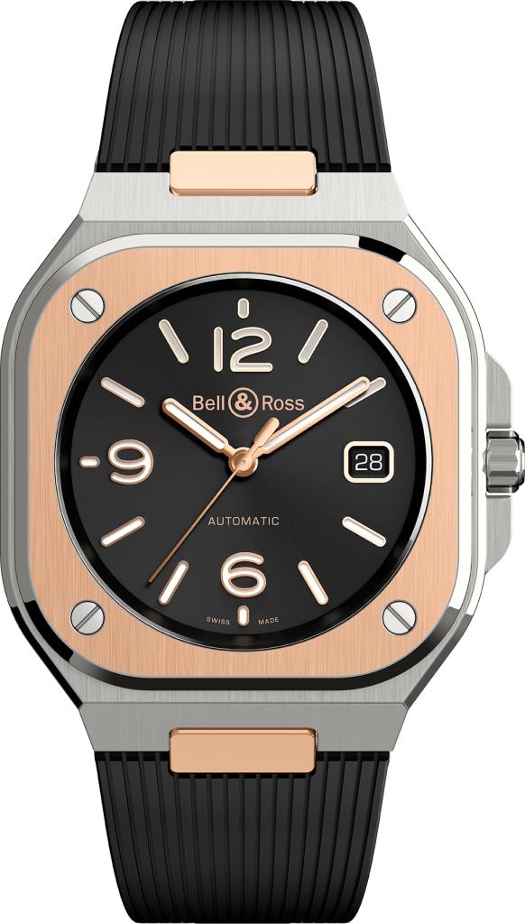 Bell & Ross BR 05 gold front caucho