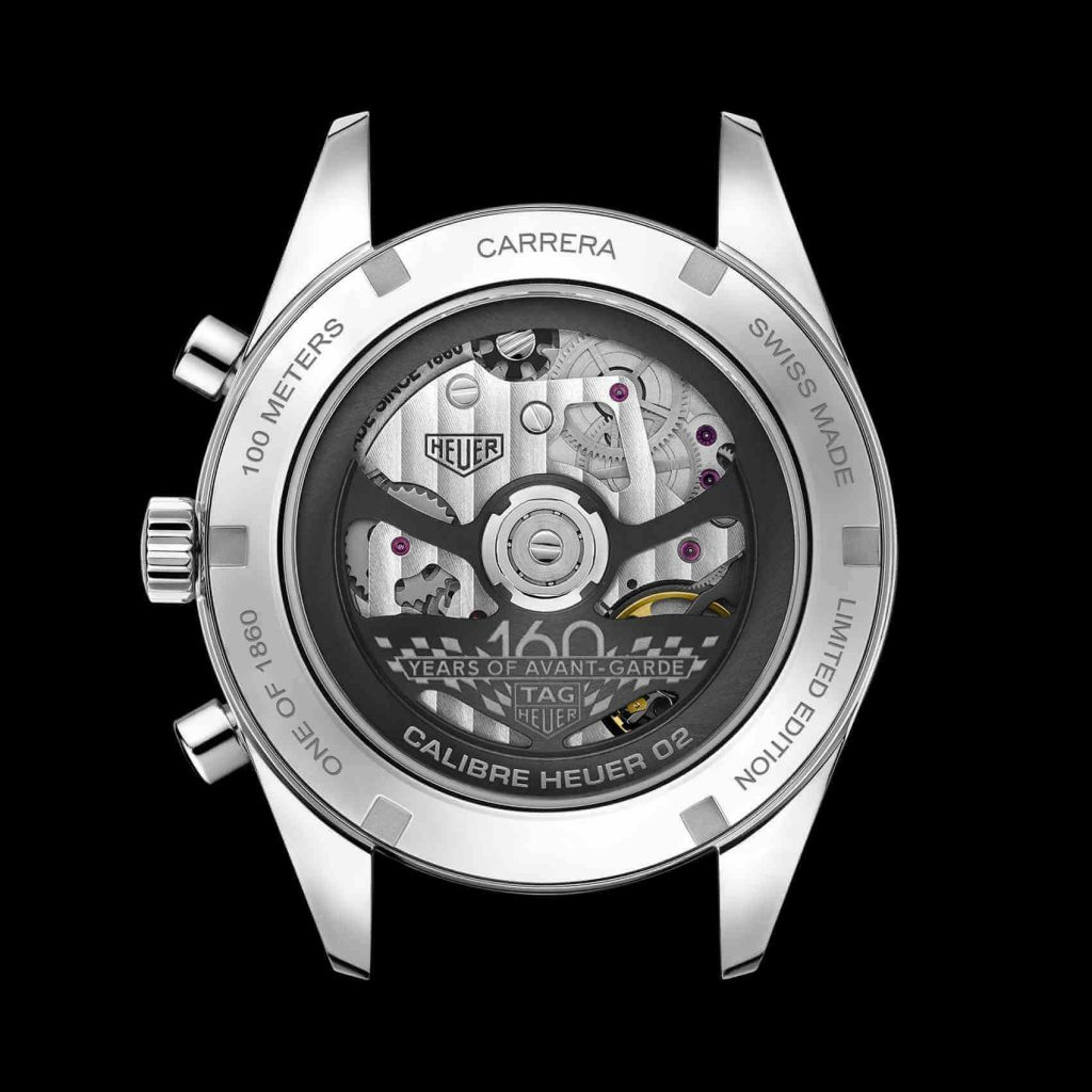 Tag Heuer Carrera 160 Years Montreal Limited Edition back