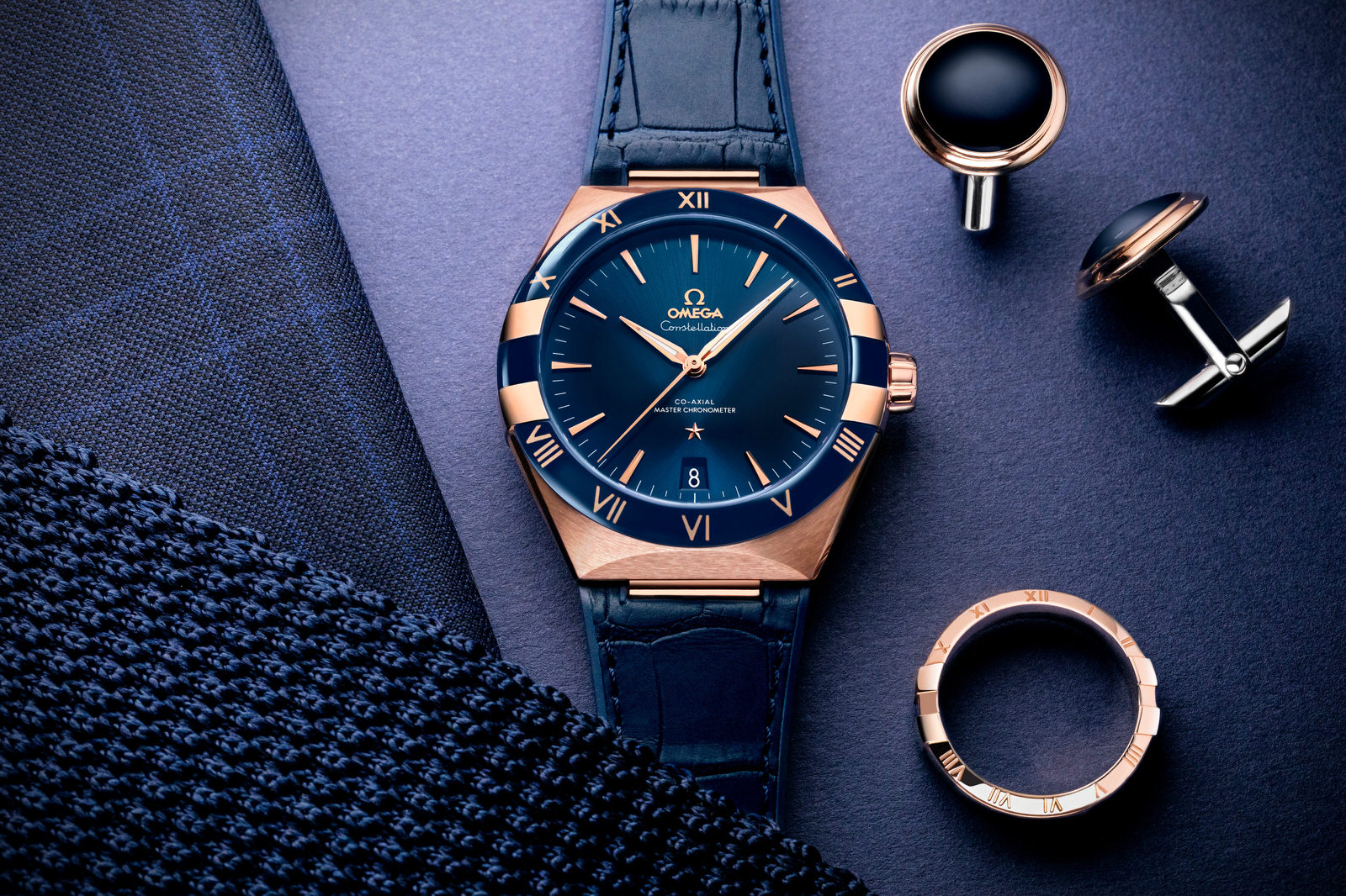 Omega Constellation Gents' Collection azul