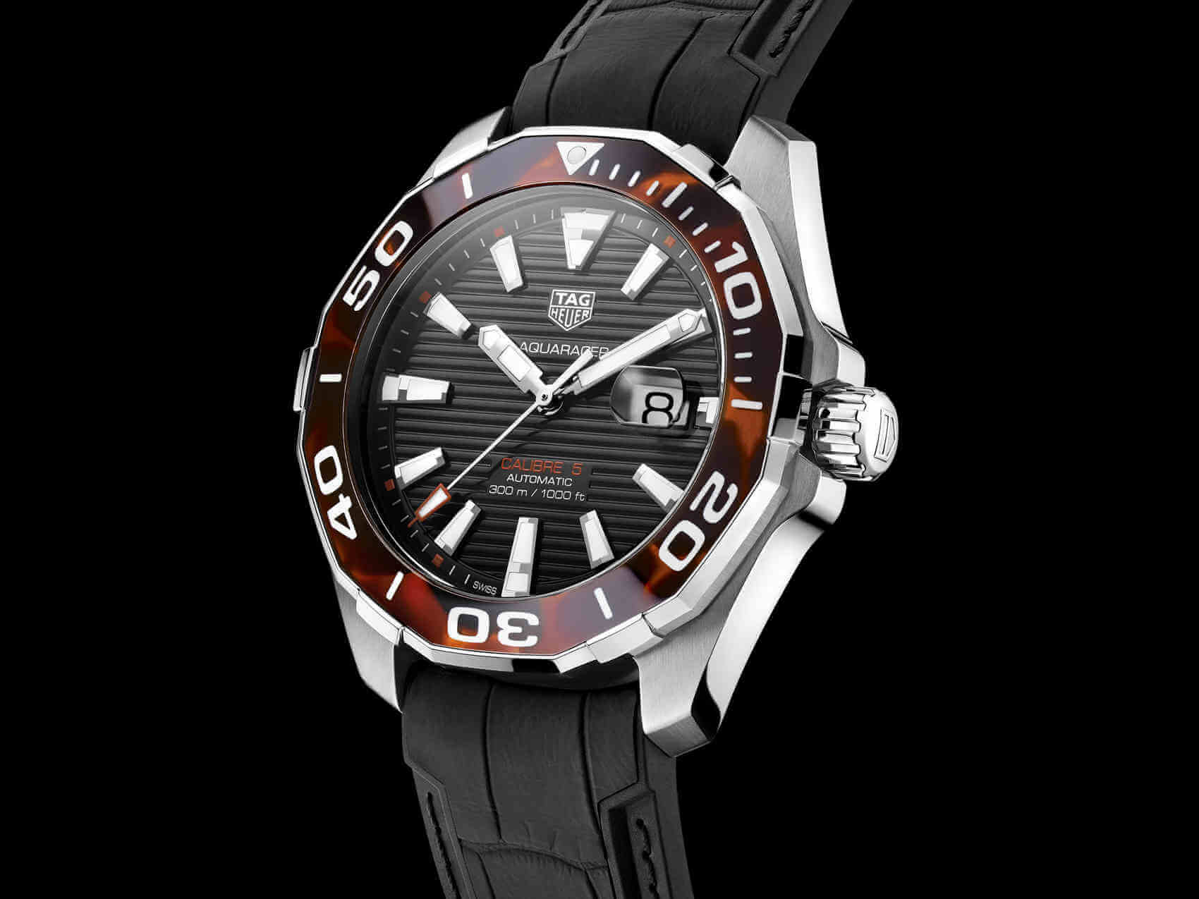 Tag Heuer Aquaracer Tortoise Shell front lado 1