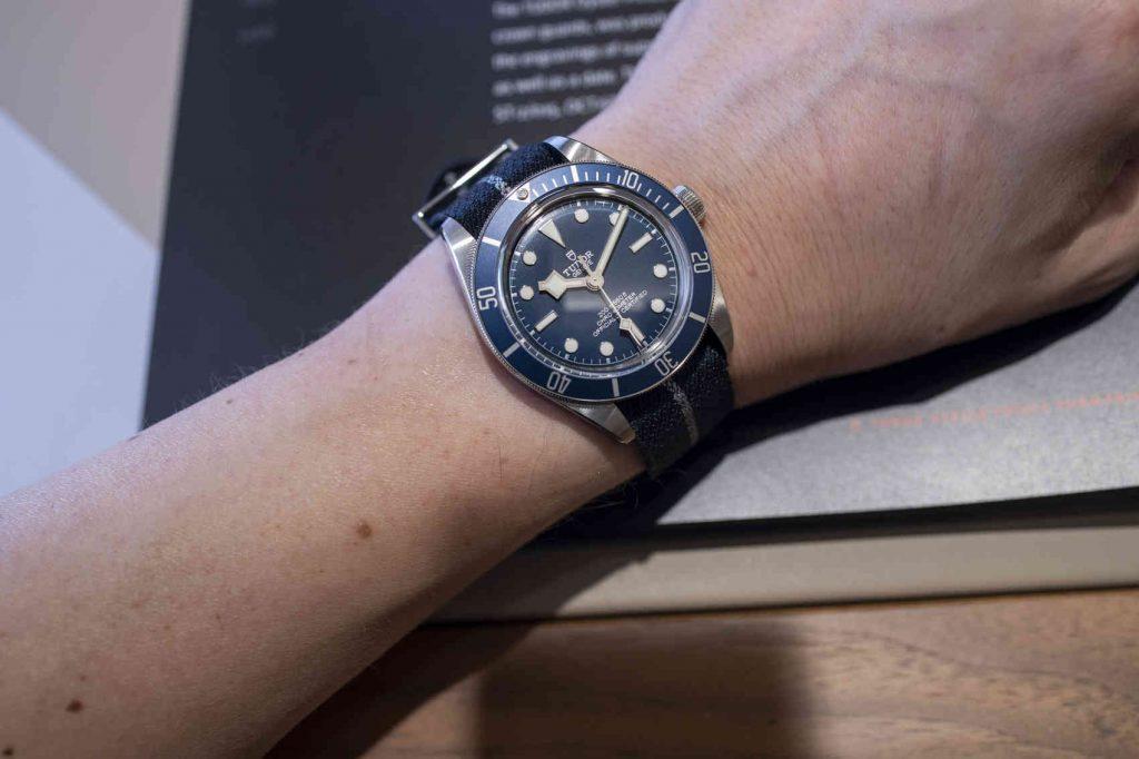 "Tudor Black Bay Fifty-Eight Azul ""Navy Blue"" wrist"
