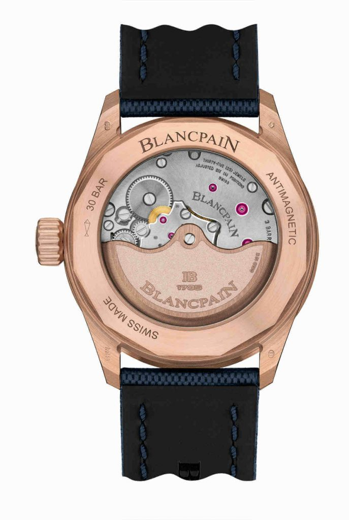Blancpain Fifty Fathoms Bathyscaphe Sedna Gold back