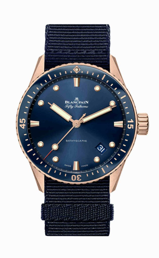 Blancpain Fifty Fathoms Bathyscaphe Sedna Gold front 1