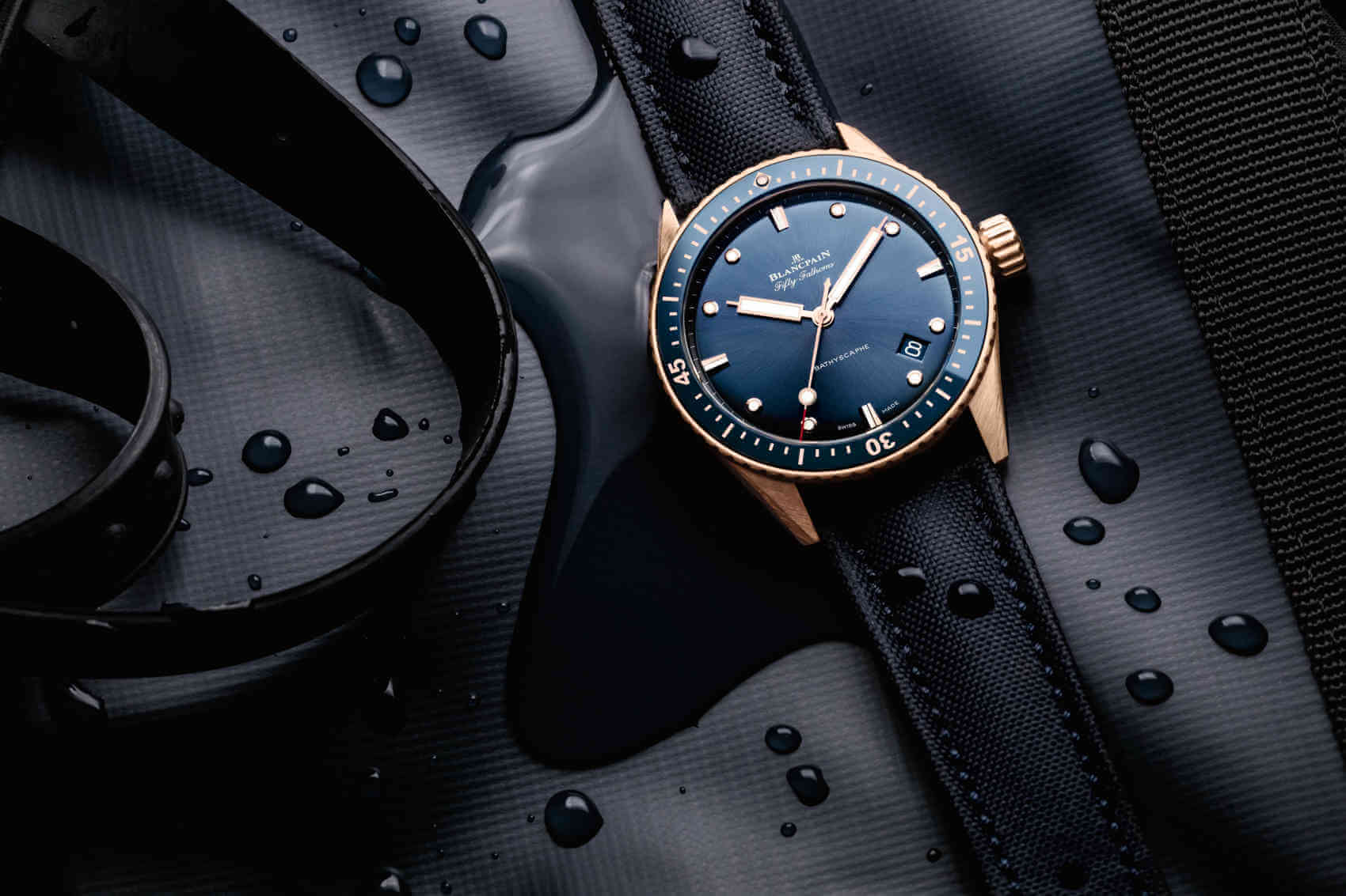 Blancpain Fifty Fathoms Bathyscaphe Sedna Gold land