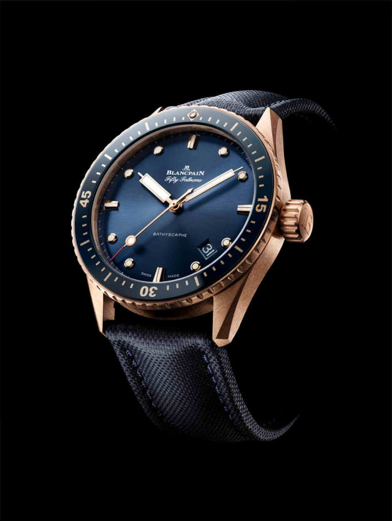 Blancpain Fifty Fathoms Bathyscaphe Sedna Gold side