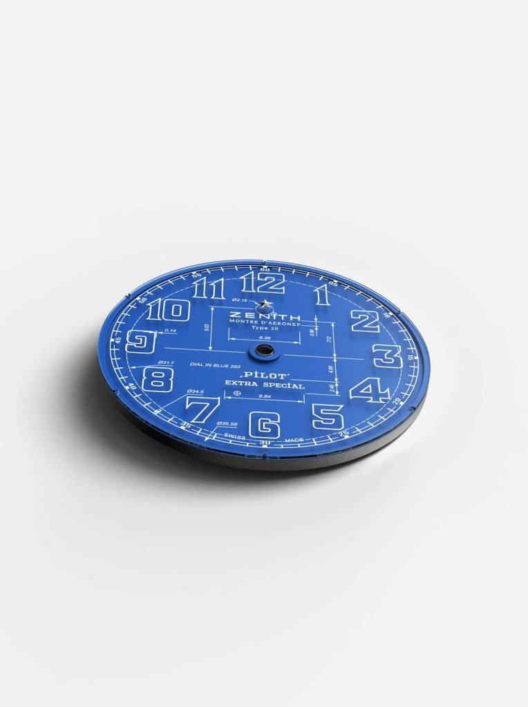 zenith Pilot Type 20 Blueprint dial 2