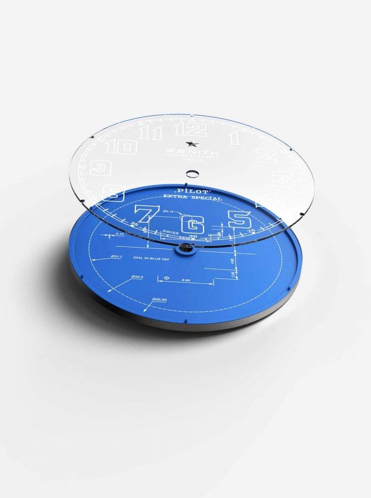zenith Pilot Type 20 Blueprint dial 1