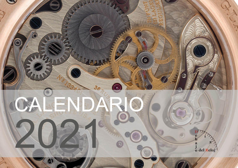 Calendario 2021 debajo del reloj