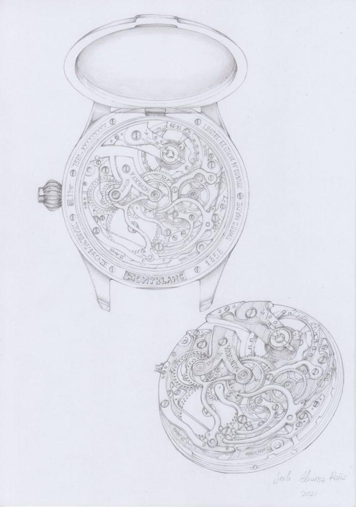 Montblanc 1858 Monopusher Chronograph Origins diseño 2