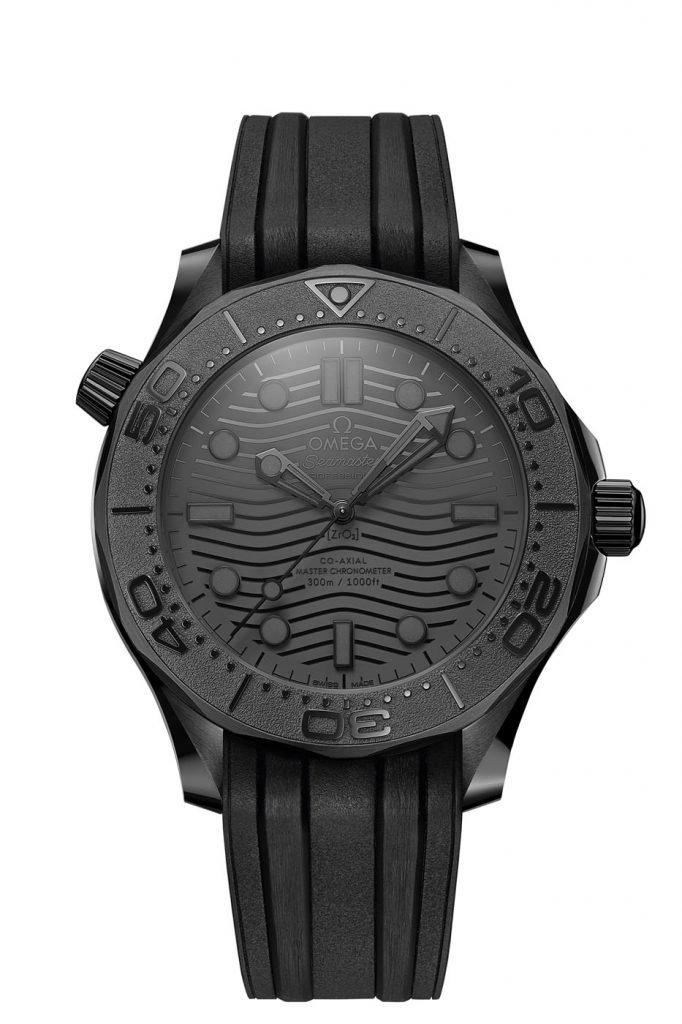 Omega Seamaster Diver 300M Black Black front