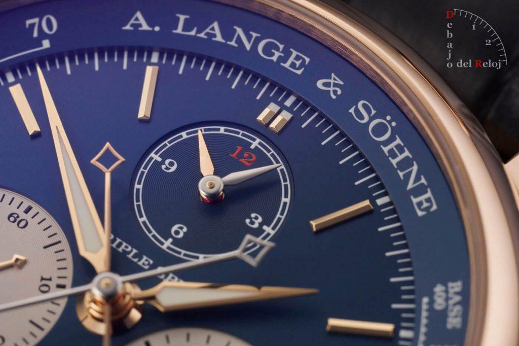 A. Lange & Söhne Triple Split Esfera Azul estudio 8