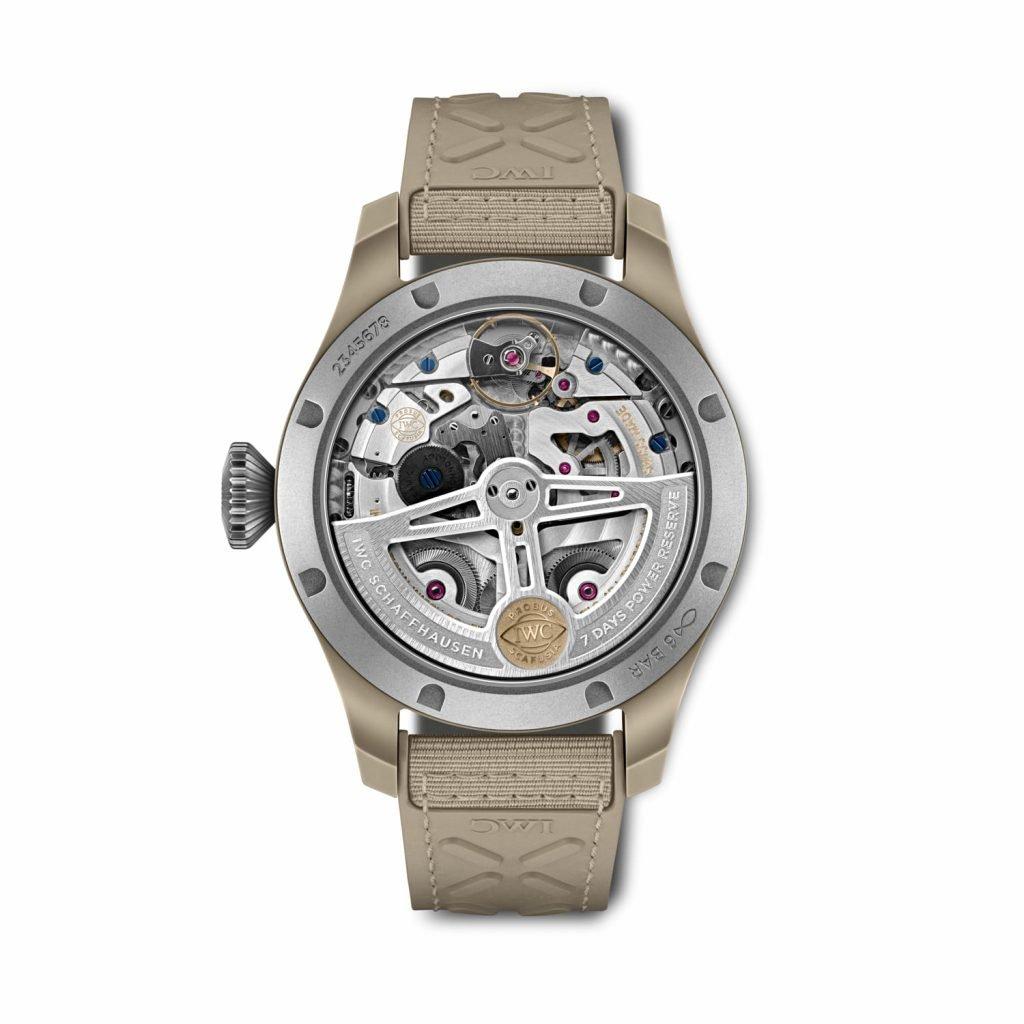 Gran Reloj de Aviador Calendario Perpetuo Top Gun Edición Mojave Desert BACK