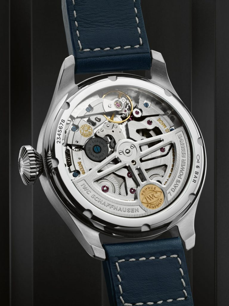 IWC Gran Reloj Aviador Calendario Perpetuo Azul back
