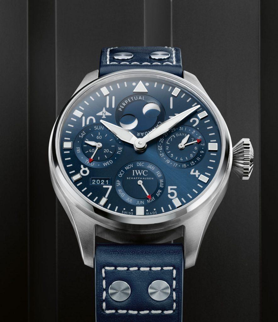 IWC Gran Reloj Aviador Calendario Perpetuo Azul cobra