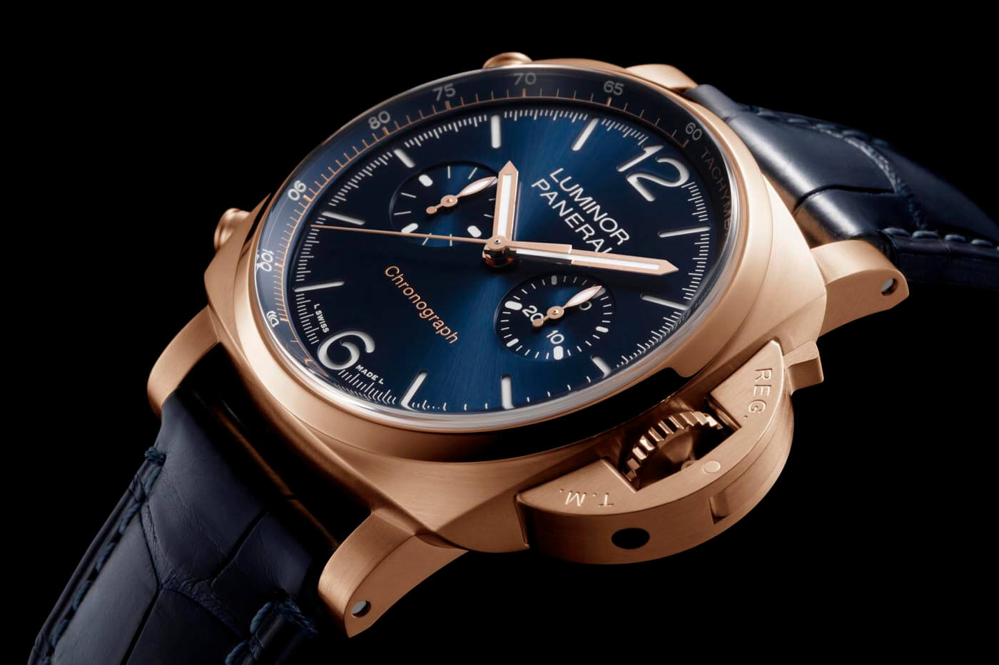 Panerai Luminor Chrono Goldtech Blu Notte 1