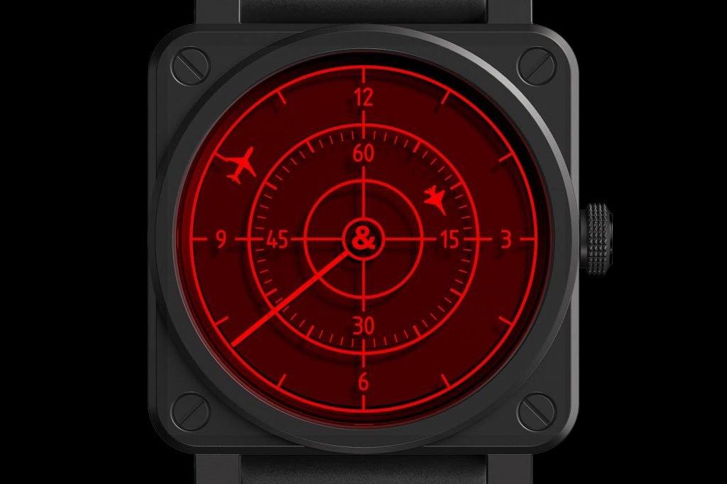 Bell & Ross BR 03-92 Red Radar Ceramic esfera detalle