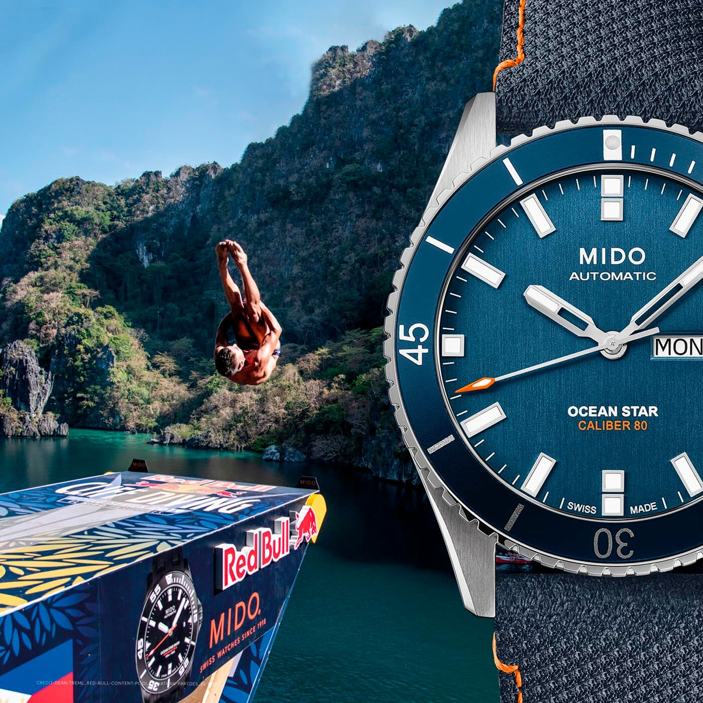 Mido Ocean Star 200 Red Bull Cliff Diving Limited Edition portada