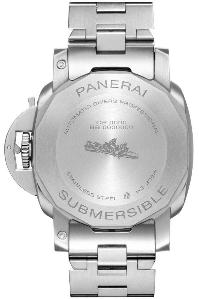 Panerai Submersible Blu Notte (PAM01068) back