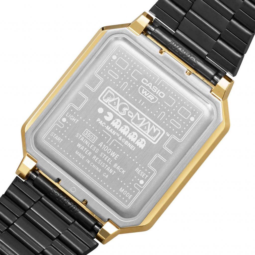 Casio A100 Pacman A100WEPC-1B back
