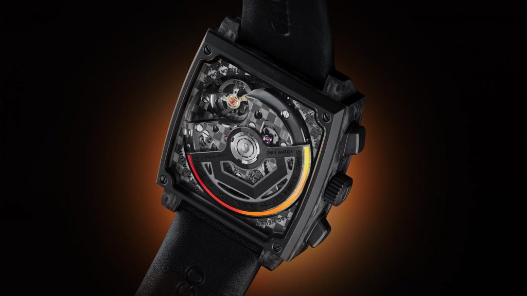 Tag Heuer Only Watch Carbon Monaco back