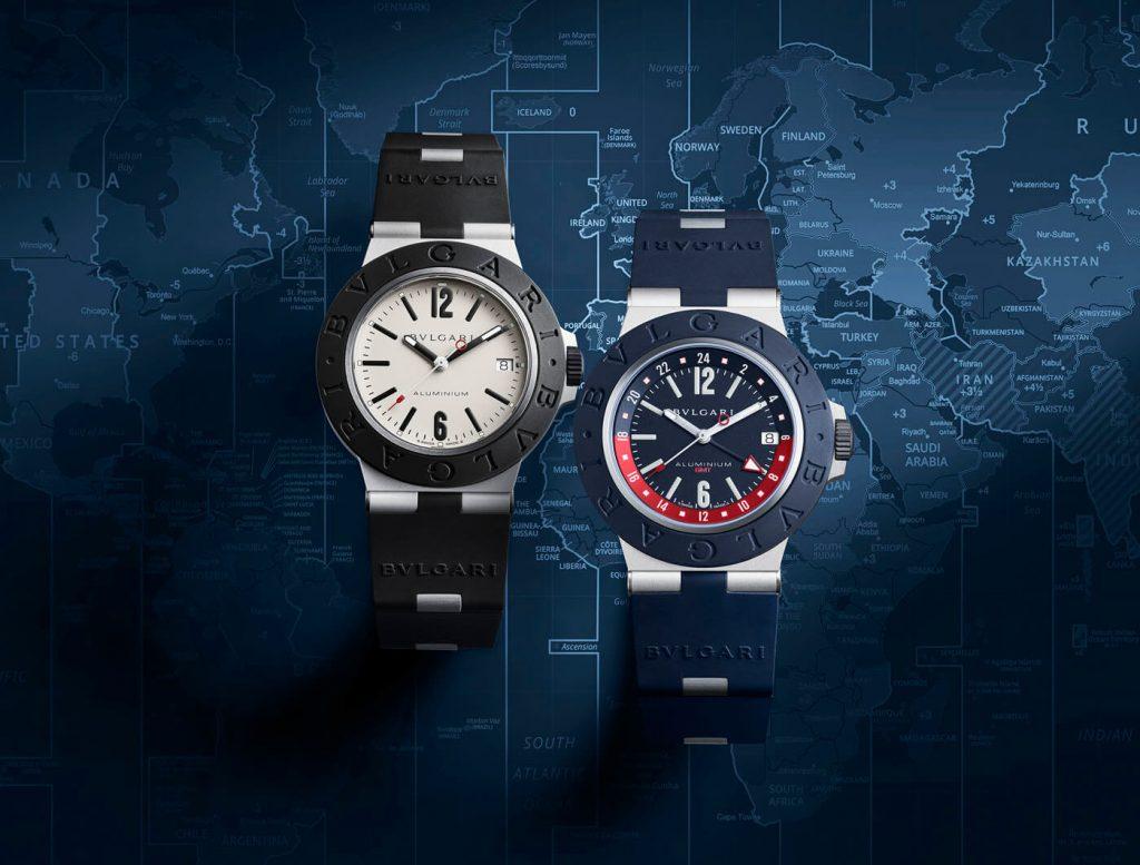Bulgari Aluminium GMT duo