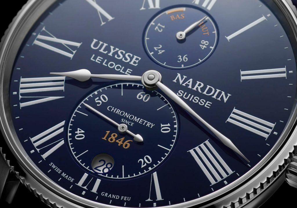 Ulysse Nardin Marine Torpilleur Esmalte Grand Feu Azul detalle