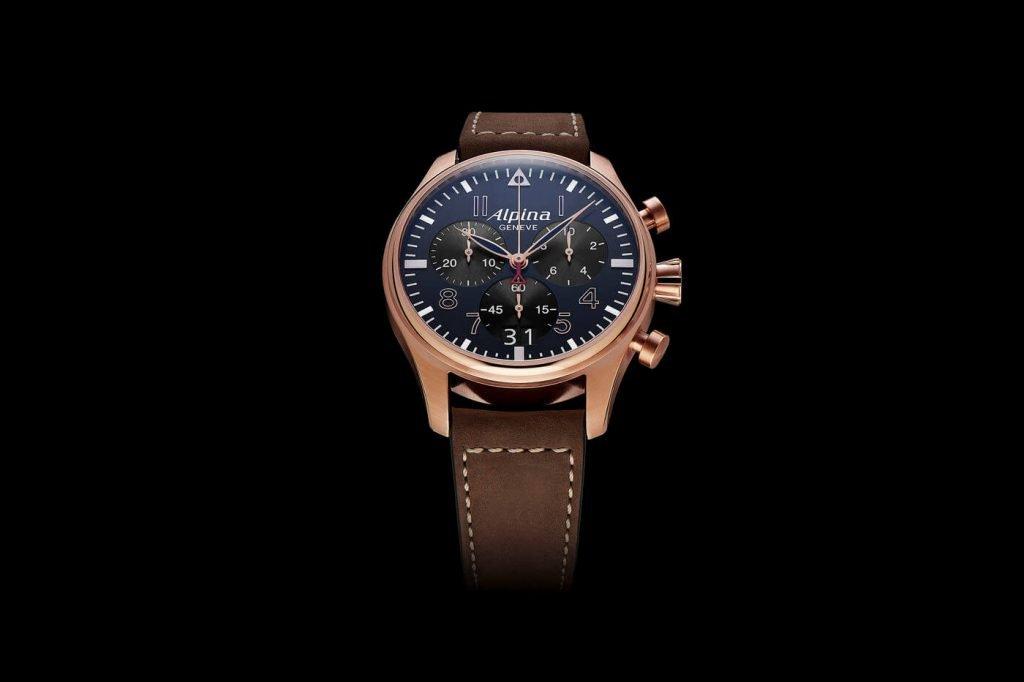 Frederique Constant Startimer Pilot Quartz Chronograph Big Date front 44