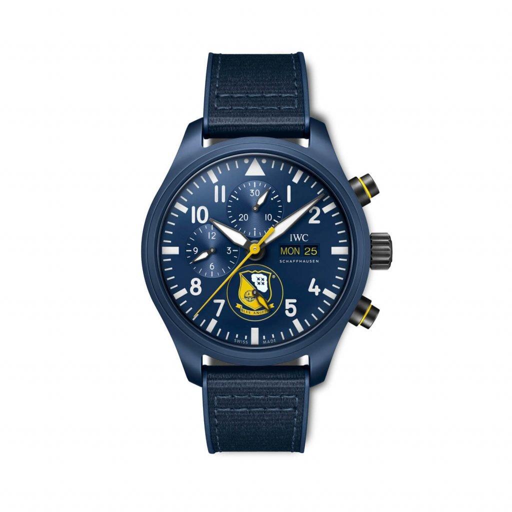 iwC Relojes de Aviador Cronógrafo Royal Maces, Tophatters y Blue Angels IW389109_FRONT