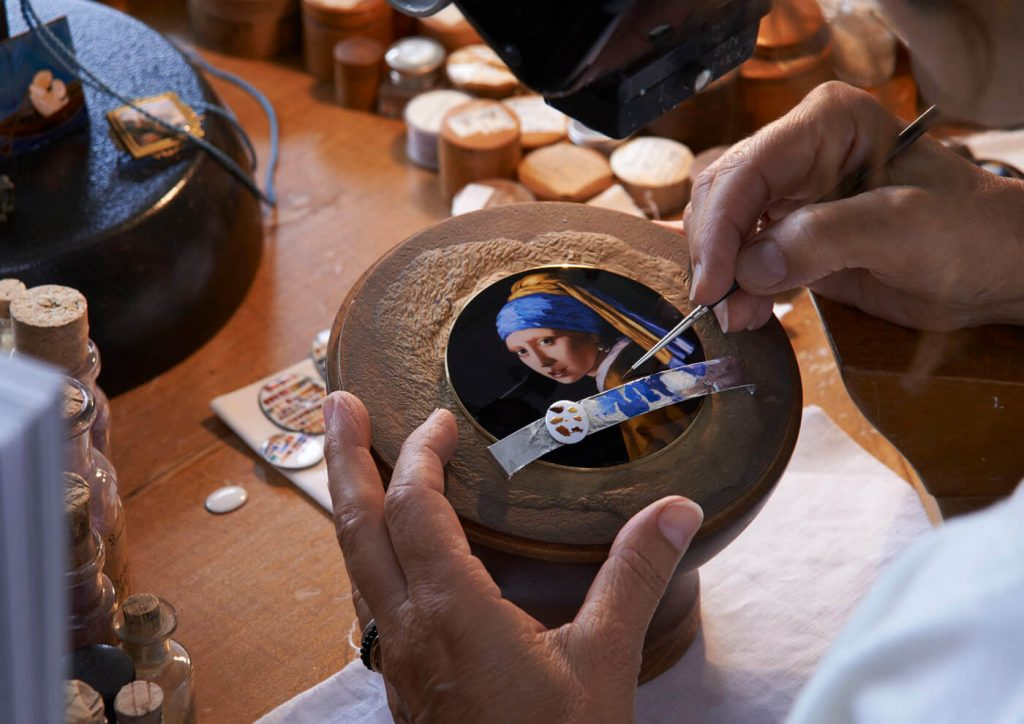 heron Constantin Les Cabinotiers Sonería Westminster Tributo a Johannes Vermeer esmalte 1