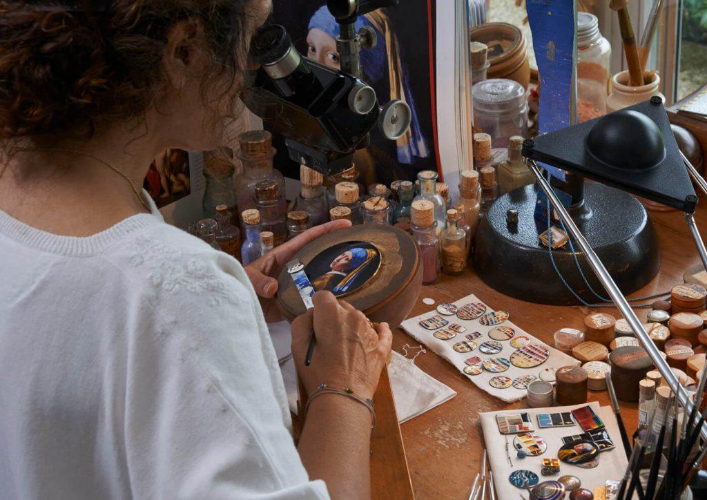 heron Constantin Les Cabinotiers Sonería Westminster Tributo a Johannes Vermeer esmalte 2