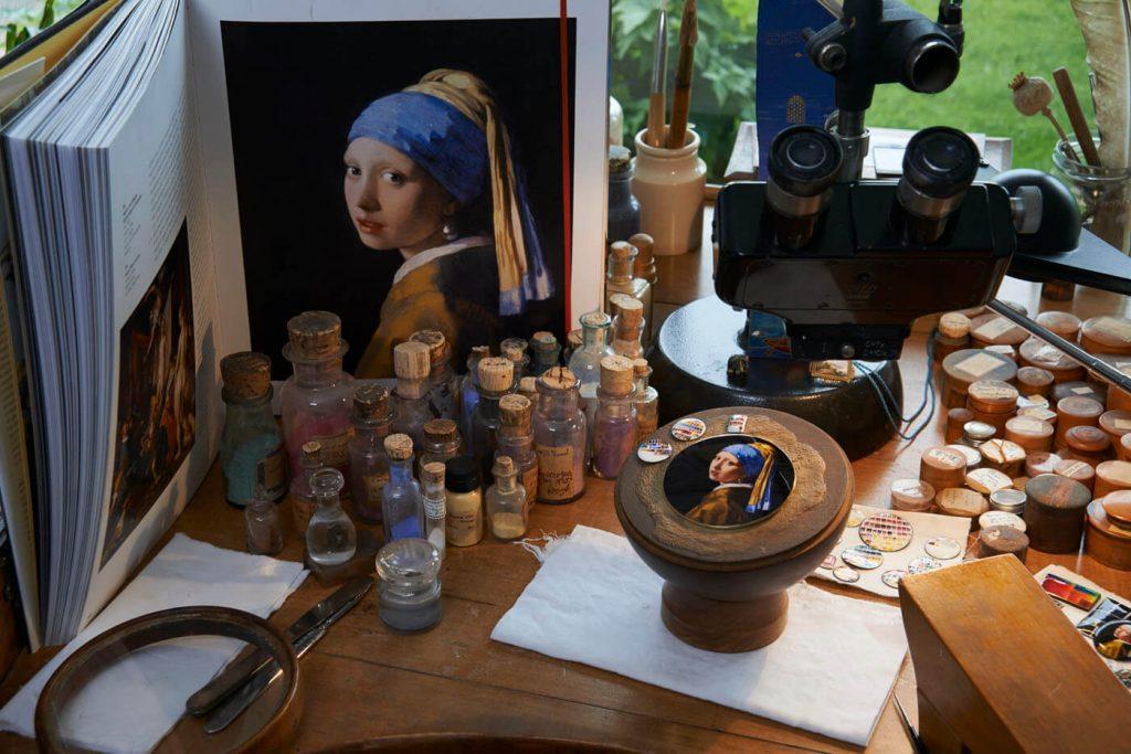 heron Constantin Les Cabinotiers Sonería Westminster Tributo a Johannes Vermeer esmalte 3